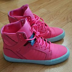 WMNS SUPRA SKYTOP PINK SIZE 8 These are in excellent condition.  Only worn Twice supra Shoes Sneakers