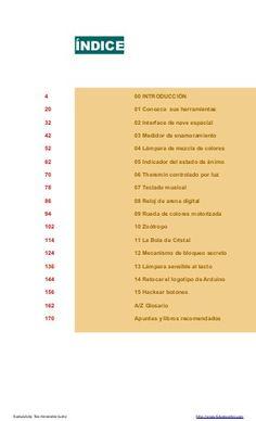 Libro de proyectos del kit oficial de Arduino en castellano completo … Kit, Creative, Arduino Books, Book Projects, Arduino Projects