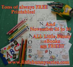 EBooks — Little Bunny series Free Printable Worksheets, Preschool Worksheets, Preschool Crafts, Free Printables, Teaching Abcs, Free Kids Books, Bunny Book, Adorable Bunnies, Reading Worksheets