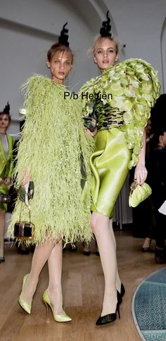 Chartreuse Color, Green Colors, Lime Sherbet, Armani Prive, Free Pictures, Backstage, Fashion Dresses, Sari, Classy
