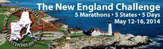 New England Challenge - 5 Marathons, 5 States, 5 Days!