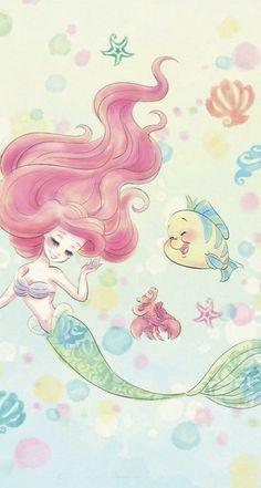 29 Trendy Ideas For Wallpaper Disney Sirenita - Wallpaper Quotes Ariel Disney, Mermaid Disney, Ariel The Little Mermaid, Mermaid Art, Disney Art, Ariel Wallpaper, Disney Phone Wallpaper, Wallpaper Backgrounds, Iphone Wallpaper