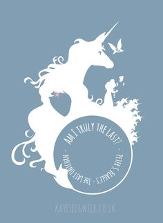 """My idea for a """"Last Unicorn T-shirt"""". Very simplistic in design, just showing my 4 favourite bits of the film. The talk with the Butterfly, transformation into a woman, the final confrontation of the Red Bull and the reveal of unicorns hiding place. Unicorn Mom, The Last Unicorn, Pegasus, Daddys Little Princess, Unicorn Tattoos, Unicorns And Mermaids, Art Sketchbook, Mythical Creatures, Beautiful Creatures"""