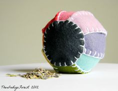 Wool Blend Play Ball With Organic Lavender Pure by theindigoforest, $12.00