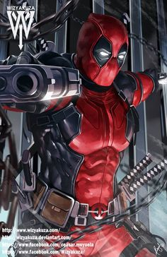 Deadpool Marvel Comics 11 x 17 Digital Print by Wizyakuza Bd Comics, Marvel Dc Comics, Anime Comics, Marvel Heroes, Marvel Logo, Marvel Avengers, Deadpool Wallpaper, Avengers Wallpaper, Comic Kunst