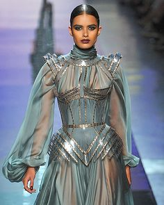 Menon at Jean Paul Gaultier's fall 2009 couture show.