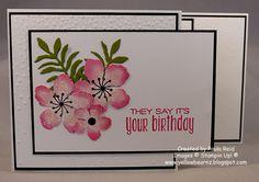 Yellowbear Stampin: Botanical Blooms Z Fold Card