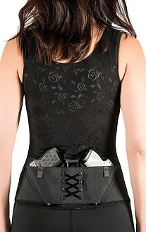 Concealed Carry Clothing Corset is the all-in-one Holster and Shape wear Solution, Women's holster, concealed carry, firearm, gun, holster