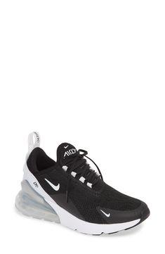 Women's Nike Air Max 270 Premium Sneaker, Size 9 M - Black Cute Nike Shoes, Cute Nikes, Nike Shoes Outfits, Fab Shoes, Shoes Style, Black Sneakers, Shoes Sneakers, All Black Men, Comfortable Sneakers