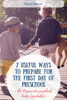 HFirst day of preschool: How to help kids prepare for preschool and a printable activity pack to help your child adjust to this change