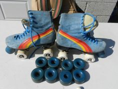 Blue Suede Shoes? No. Blue Suede SKATES! Even better.