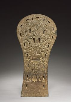 Mexico, Gulf Coast, Classic Veracruz style (600-1100), stone, Overall: 49.20 x 23.50 x 11.40 cm (19 5/16 x 9 1/4 x 4 7/16 inches). Purchase from the J. H. Wade Fund 1973.3  Pinned by y Lezama Art