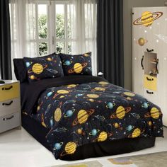 Rocket Star Glow In The Dark Bedding Collection  my 5 year old brother whats this bed
