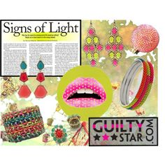 Signs of Light - Neon Colors, created by guiltystardotcom on Polyvore