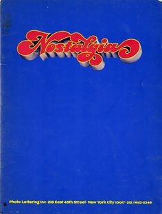 I admit it: I'm having a nostalgic kind of morning: Remember When: Seventies Type Nostalgia on http://imprint.printmag.com