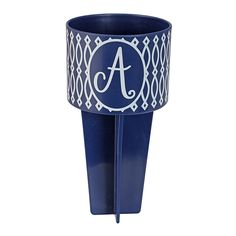 Monogram Beach Buddy Cup Holder-A - Occasionally Made - Classic Gifts with a Trendy Twist!
