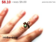 On Sale Adjustable Gemstone midi ring Wire by rsuniquejewel Midi Rings, Wire Wrapped Rings, Wire Wrapping, Gemstone Rings, Gemstones, Unique Jewelry, Handmade Gifts, Etsy, Kid Craft Gifts