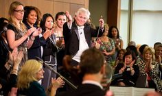 The conductor Roger Nierenberg uses his Music Paradigm program to teach corporate employees and managers leadership skills through music.