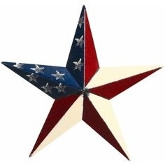 """Amish-Made 53"""" Stars and Stripes Barn Star ($84) ❤ liked on Polyvore featuring home, outdoors, outdoor decor, outdoor garden decor, outdoor patio decor, american flag outdoor decor and outdoor metal decor"""