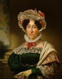 Portret van Jkvr. Anna Elisabeth Huydecoper -  Jan Adam Kruseman 1834