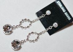 Swarovski Crystal Element Dangle Post Earrings