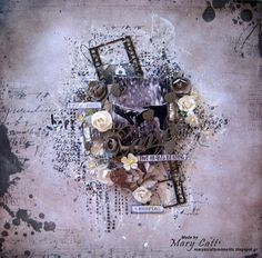 Mary's Crafty Moments: ''Two Hearts Beating'' - DT Layout for Crafty Life...