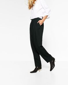 Image 3 of GATHERED TROUSERS from Zara