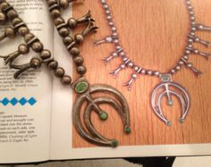 """Published, Antique, Museum Piece 1890's Squash Blossom Necklace from Lynn Trusdell""""s Native American Jewelry Collection"""