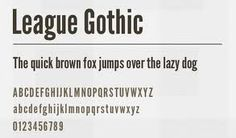 league gothic - Google Search
