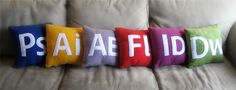 Adobe creative suite pillows. So cute, and also, I know most of these programs pretty well.
