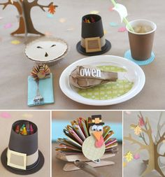 Thanksgiving table/craft ideas