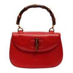 Gucci 1970s rare and iconic bamboo handbag