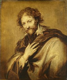 Unknown, 1630 - Portrait of a Man, Identified as Peter Paul Rubens - art print, fine art reproduction, wall art Anthony Van Dyck, Sir Anthony, Peter Paul Rubens, Van Gogh, Fine Art Prints, Canvas Prints, Digital Art Gallery, Pose, Large Artwork