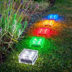 Solar lighting ideas: Glass block lights