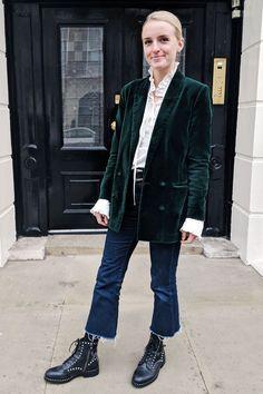 5a4b29f98f5d Don't Listen to the Haters—You Can Wear Velvet in the Daytime. Green BlazerEnglish  ...