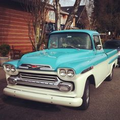 What country road would you drive down in this vintage Chevrolet truck?