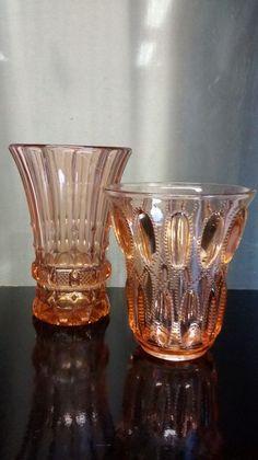 "Online veilinghuis Catawiki: Val Saint Lambert - 2 Art Deco rosaline vazen model 'Dufour' & ""Ephémère"""