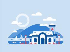 Greece by Scott Tusk #Design Popular #Dribbble #shots
