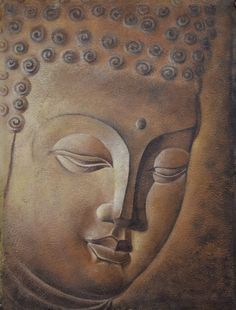 High-quality Hand painted Oil Painting Buddha Wall art Picture Paintings Canvas Home decor 75x100cm