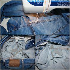 Jeans flicken - Loch in der Jeanshose reparieren - fix it - Tutorial - Anleitung                                                                                                                                                                                 Mehr