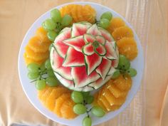Fruit Dinner, Cantaloupe, Watermelon, Food, Essen, Yemek, Meals