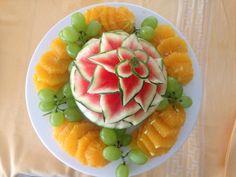 Fruit Dinner, Cantaloupe, Watermelon, Food, Meals, Yemek, Eten