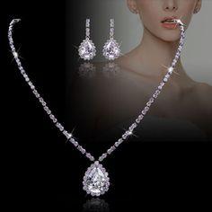 Flawless Diamond Zircon Beaded Bridal Necklace Set by Annamall