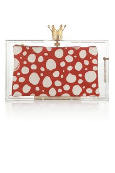 Jewel box: we're obsessed with the tiny clutch bag! From Charlotte Olympia