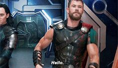 So this is what it feels like..., marvelgifs: Chris Hemsworth as Thor Odinson in...