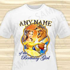 Beauty and the Beast Any Name of the Birthday by KidsPartyBoutique