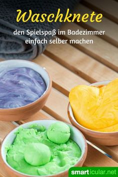Knetseife selber machen – damit baden alle Kinder gern It's not a dough and it's not a bar of soap either: it's both! With homemade dough soap, washing makes even children fun – but also the big ones.