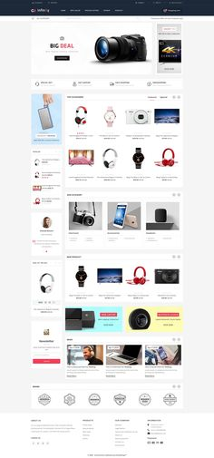 Infinity - The Mega Ecommerce Store Template is a good choice for selling Ecommerce Website Design, Website Design Layout, Web Design, Graphic Design, Computer Theme, Phone Shop, Ecommerce Store, Website Themes, Stationery Design