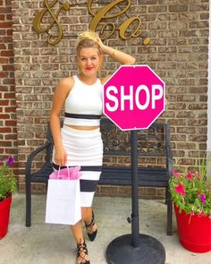 Make your boutique, gift shop, or any other retail location stand out from the crowd with this unique, on-trend SHOP sign. This attention-getting sign will turn heads and increase customer interaction at your business. A fun and fabulous marketing tool! The SHOP sign is shown in hot pink but can be customized into any popular color.