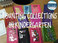 Collections in Kindergarten and a FREEBIE! Learning with Mrs. Langley: Counting Collections in Kindergarten and a FREEBIE!Learning with Mrs. Langley: Counting Collections in Kindergarten and a FREEBIE! Kindergarten Math Activities, Preschool Math, Teaching Math, Math Resources, Math Games, Preschool Ideas, Teaching Ideas, Math Centers, Math Stations